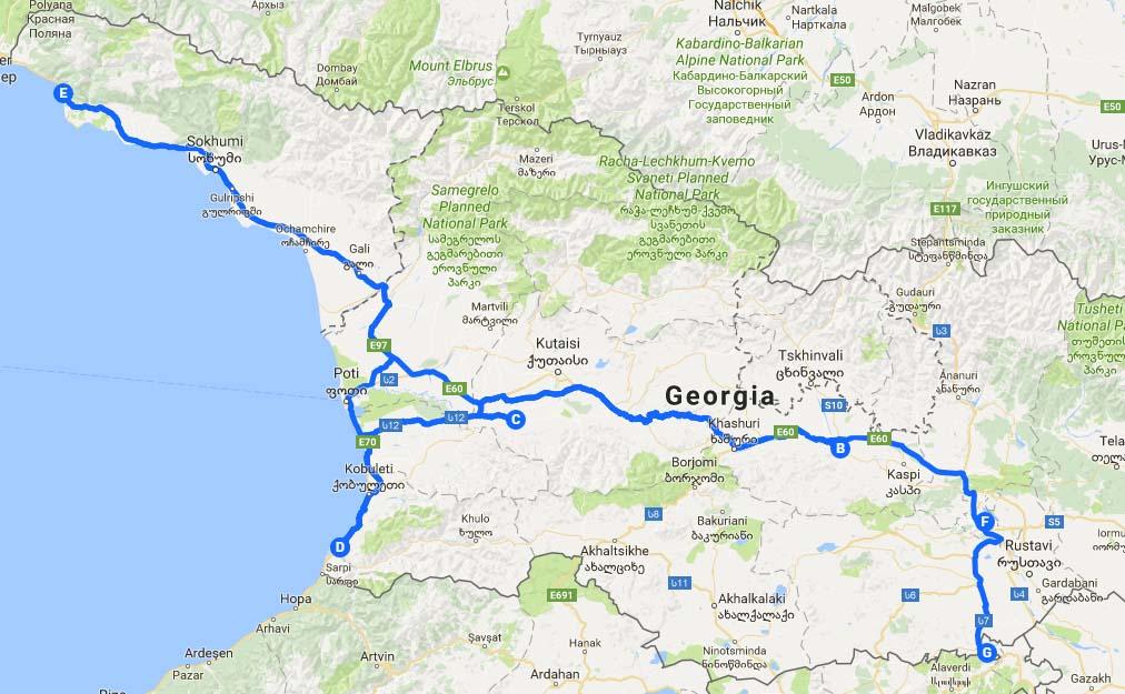 Абхазия Map